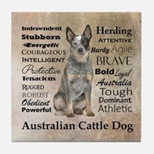 Cattle Dog Traits Tile Coaster