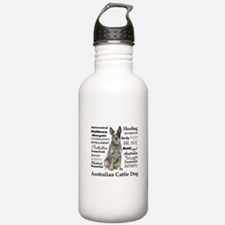 Cattle Dog Traits Water Bottle