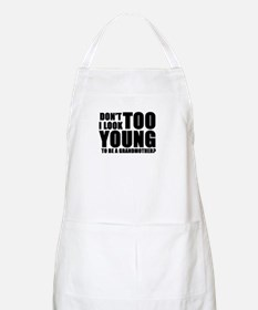 Too young to be grandmother BBQ Apron