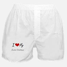I Love my Deutsch Drahthaars Boxer Shorts