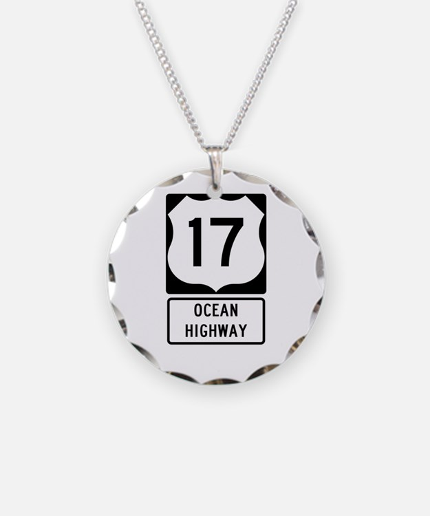 US Route 17 Ocean Highway Necklace
