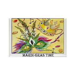 Mardi-Gras Rectangle Magnet (10 pack)