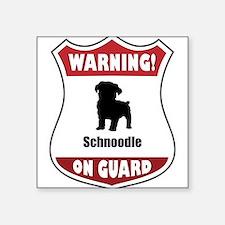 """Funny Guard dog sign Square Sticker 3"""" x 3"""""""
