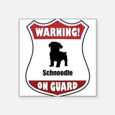 "Cute Schnoodle dog breed Square Sticker 3"" x 3"""