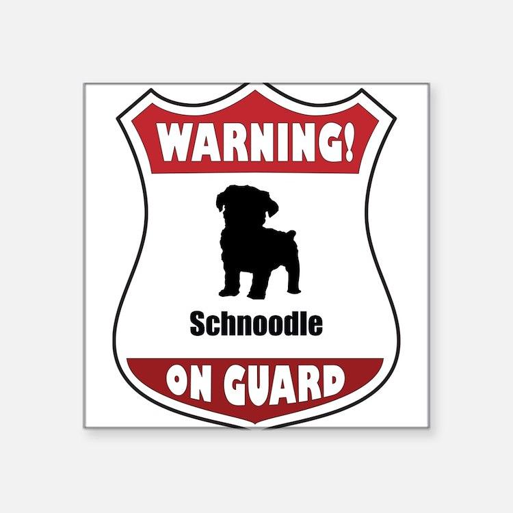 """Cute Schnoodle lover Square Sticker 3"""" x 3"""""""