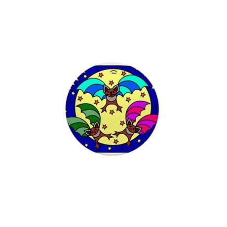 Batty Halloween Mini Button (10 pack)
