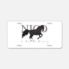 Cute Nico Aluminum License Plate
