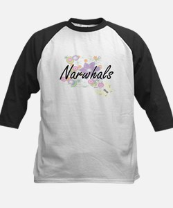 Narwhals artistic design with flow Baseball Jersey