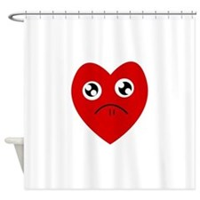 anti valentines day Shower Curtain