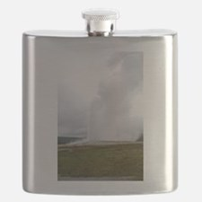 Old Faithful Yellowstone National Park Flask