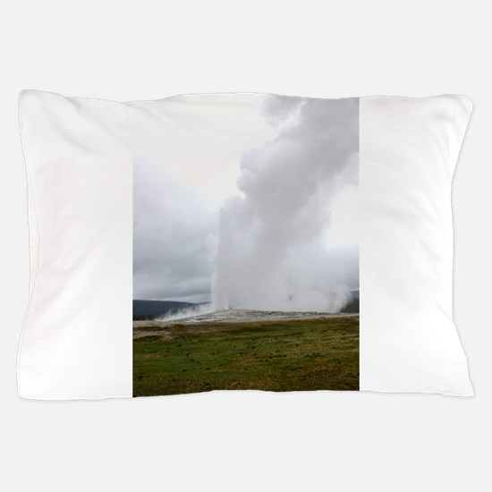 Old Faithful Yellowstone National Park Pillow Case