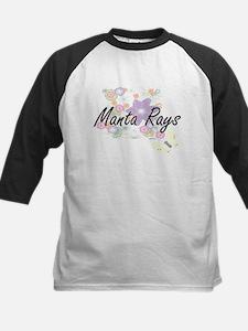 Manta Rays artistic design with fl Baseball Jersey