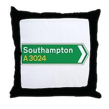 Southampton Roadmarker, UK Throw Pillow
