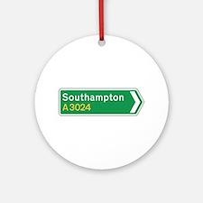 Southampton Roadmarker, UK Ornament (Round)