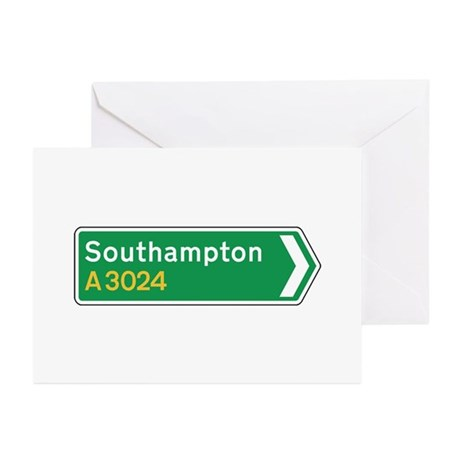 Southampton Roadmarker, UK Greeting Cards (Pk of 1