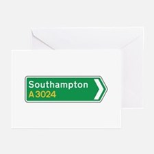 Southampton Roadmarker, UK Greeting Cards (Pk of 1