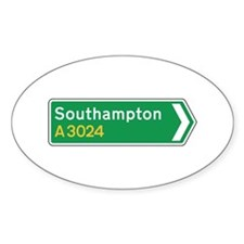 Southampton Roadmarker, UK Oval Decal
