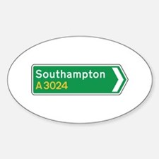 Southampton Roadmarker, UK Oval Decal