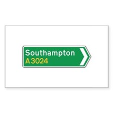 Southampton Roadmarker, UK Rectangle Decal