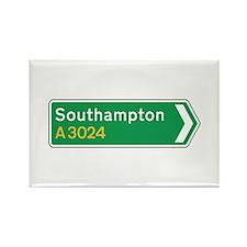 Southampton Roadmarker, UK Rectangle Magnet