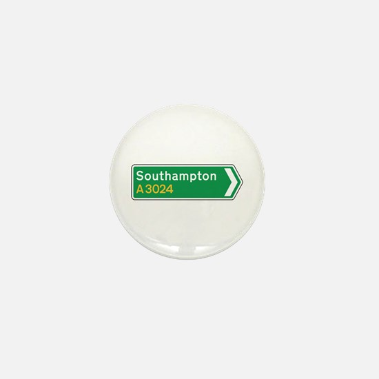 Southampton Roadmarker, UK Mini Button