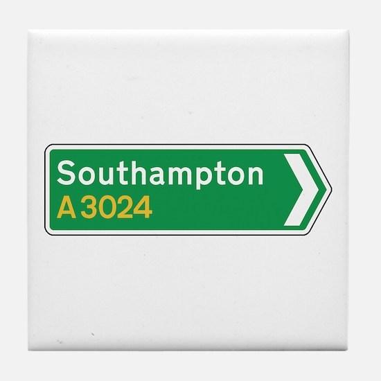 Southampton Roadmarker, UK Tile Coaster