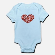valentines day heart Body Suit