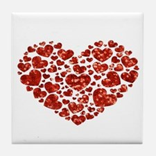 valentines day heart Tile Coaster