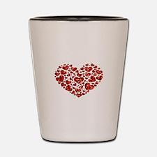 valentines day heart Shot Glass