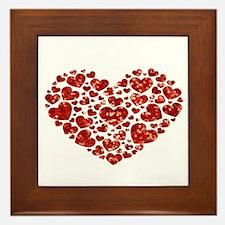 valentines day heart Framed Tile