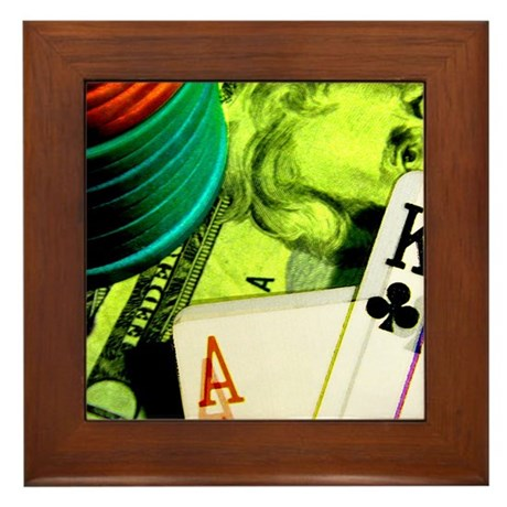 Poker Lover Framed Tile