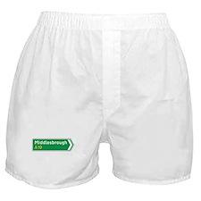 Middlesbrough Roadmarker, UK Boxer Shorts