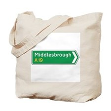 Middlesbrough Roadmarker, UK Tote Bag