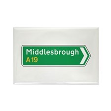 Middlesbrough Roadmarker, UK Rectangle Magnet