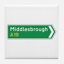 Middlesbrough Roadmarker, UK Tile Coaster