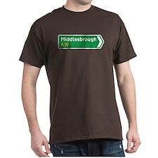 Middlesbrough Roadmarker, UK T-Shirt