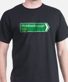 Middlesbrough Roadmarker, UK T-Shirt