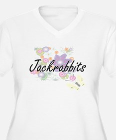 Jackrabbits artistic design with Plus Size T-Shirt
