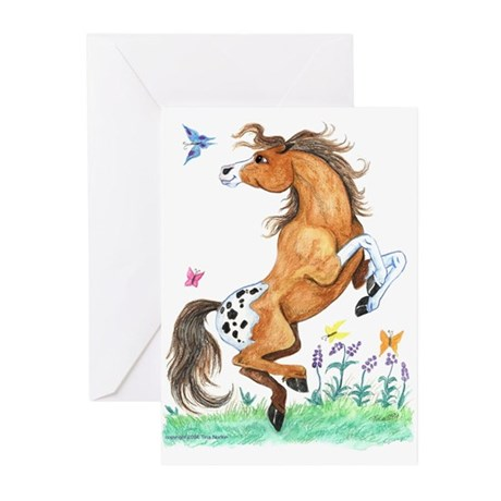 Butterflies and Appy Horse Greeting Cards