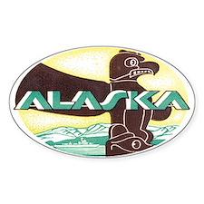 Vintage Alaska Retro Oval Decal