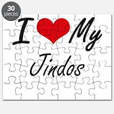 I Love my Jindos Puzzle