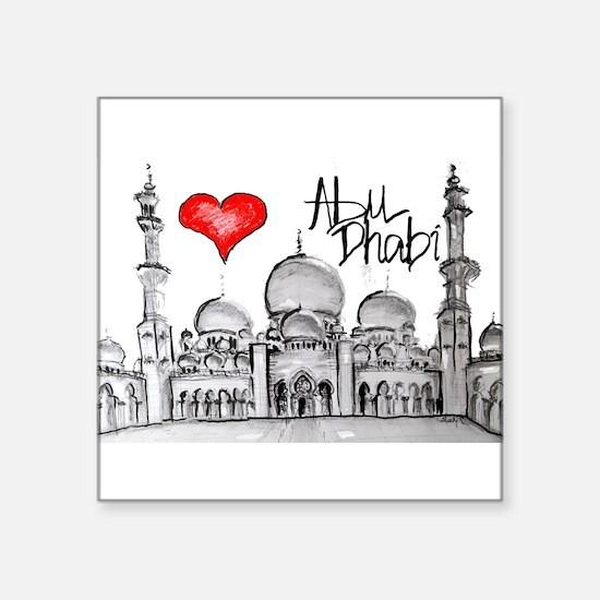 I love Abu Dhabi Sticker