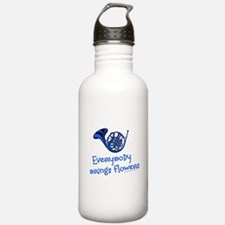 Blue French Horn Water Bottle