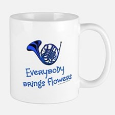 Blue French Horn Mugs