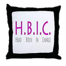 HBIC Throw Pillow