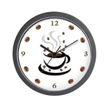 Coffee Cup & Bean: Wall Clock