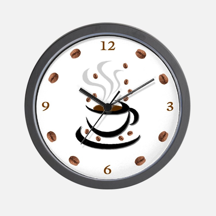 Coffee Cup & Bean: Wall Clock