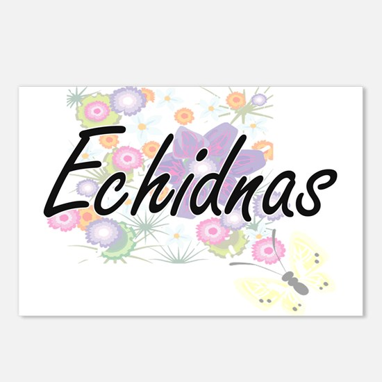 Echidnas artistic design Postcards (Package of 8)