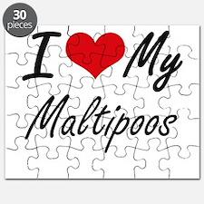 I Love my Maltipoos Puzzle