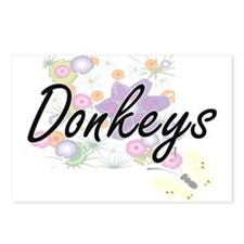 Donkeys artistic design w Postcards (Package of 8)
